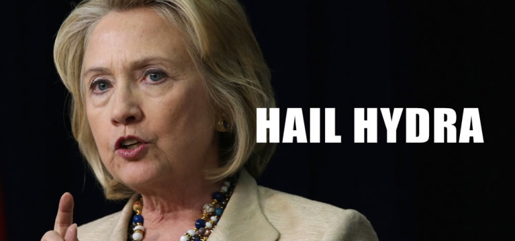 Clinton Hail Hydra Slogan