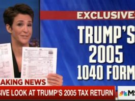 Rachel Maddow MSNBC Trump Tax Return