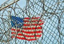 prisoners' rights - american flag